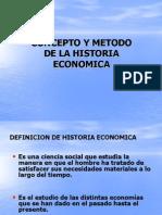 Concepto y Metodo de La Historia Economica