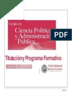 Grado en Ciencia Politica y a. Publica 2014-2015