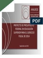 Proyecto de Presupuesto en Educacion 2014