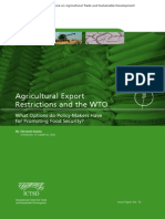 Agricultural Export Restrictions and the WTO