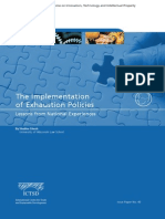 The Implementation of Exhaustion Policies