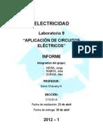 Electricidad - Informe Lab 09