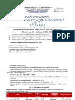 Plan Operațional LTFI 2014-2015