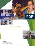 Plan de Gobierno Alvaro Uribe