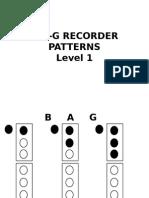 bag recorder patterns level 1