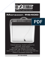 Monsoon RS400 EU Instruction Manual