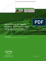 Agricultural Domestic Support and Sustainable Development in China