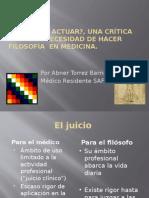 Presentacion de Pensar o Actuar Dr Torrez
