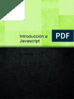 Introduccion a Javascript