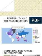 neutrality and the war in europe