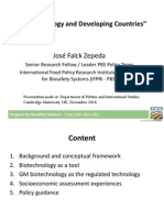 Jose Falck Zepeda Presentation Cambridge University December 2014 FINAL on Biotechnology and Developing Counries