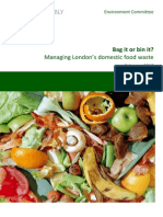 Bag It or Bin It - Managing London's Domestic Food Waste