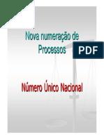 0 - Nova Numeração de Processos
