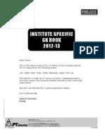 Institute Specific GK Book 2012-1