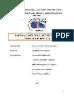 Satisfaccion Del Cliente en Una Empresa Turistica -Ppp1