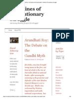 Arundhati Roy_ the Debate on the Gandhi Myth _ Frontlines of Revolutionary Struggle