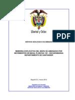 Memoria Geomorfología plancha 120 bucaramanga