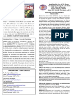 Boletim - 25 de Janeiro de 2015