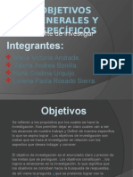 objetivosgeneralesyespecificoslorenainvestigacion-120901112500-phpapp01
