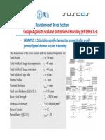 Calculul caracteristicilor eficace sectiuni C