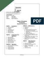 Centrifugal Pump Halco 2500 Manual
