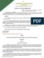 DECRETO Nº 1.171 - Código de Ética Profissional Do Servidor Público Civil Do Poder Executivo Federal