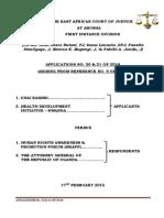 EACJ Judgement Application No. 20 21 of 2014 Copy