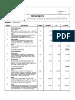 Presupuesto y partidas cancha