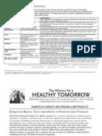 cosmetics factsheet