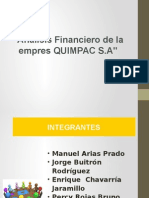Quimpac - Finanzas