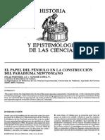 El Papel Del Péndulo en La Construcción Del Paradigma Newtoniano. Solaz Portoles J J y Sanjose Lopez.