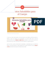 Alimentos Saludables Para El Cuerpo