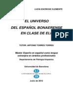 El Universo Del Español Bonaerense Lucía Escriche