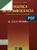 La Politica de La Burocracia, Peter Guy
