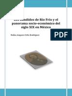 Los Bandidos de Río Frío y El Panorama Socio-económico Del Siglo XIX en México. Ortiz Guerrero