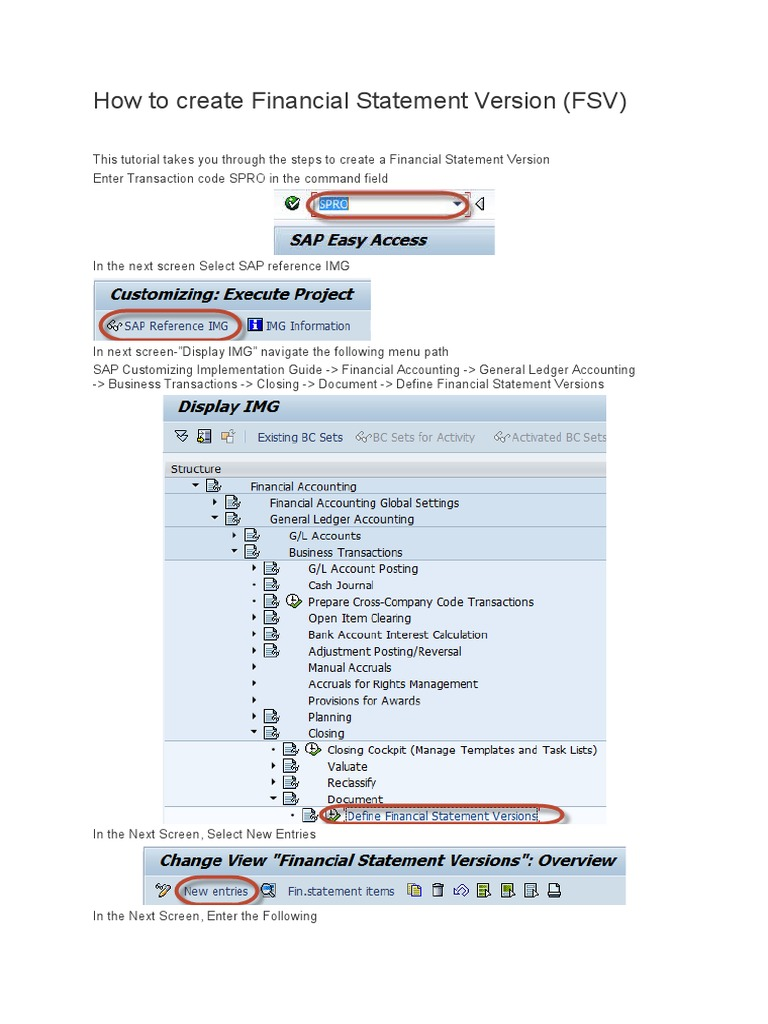 how to create financial statement version computer programming software