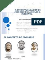 La conceptialización del progreso en Biología evolutiva