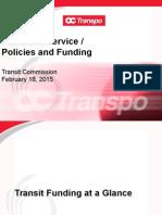 OC Transpo 2015 Budget Presentation