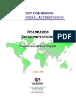 JCI Standards Interpretation_June12004