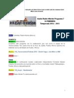 Radio Híbrido Programa 7 Temporada 2014-2015