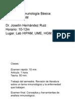 Programa Inmunología Básica I Sem 2015 y 1ra Clase