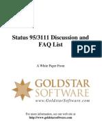 Status 95-3111 Discussion and FAQ List