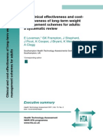 The clinical effectiveness and costeffectiveness of long-term weight management schemes for adults