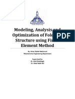 Modeling, Analysis and Optimization of Foldable Structure using Finite Element Method