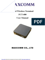 GSM Fixed Wireless Terminal FCT-400 User Manual