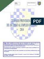 Propuesta Temario Cabo 2014
