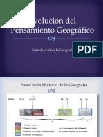 Evolución Del Pensamiento Geográfico 1a Parte