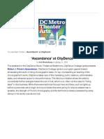 "Preview of ""'Ascendance' at CityDance - DCMetroTheaterArts"""