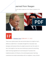 What Putin Learned From Reagan