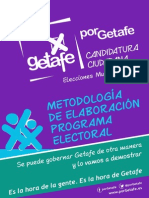 PorGetafe - Metodologia Programa Electoral